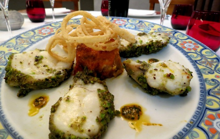 menu_secondi_pescatrice in crosta di pistacchio